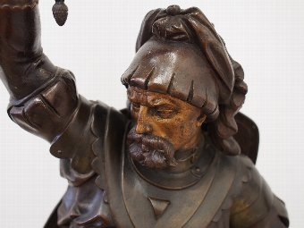 Antique Spelter Figure of a Warrior