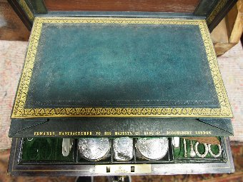 Antique Ladies Travelling Case with Hallmarked Silverware