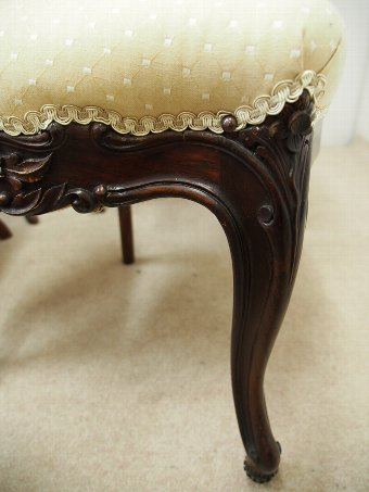 Antique Set of 8 Victorian Mahogany Dining Chairs