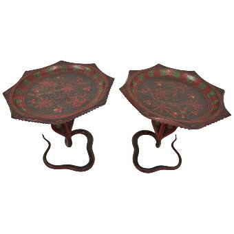 Antique Pair of Indian Tazzas