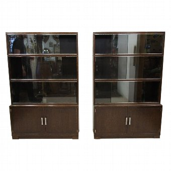 Antique Set of 3 Art Deco Bookcases by Minty of Oxford