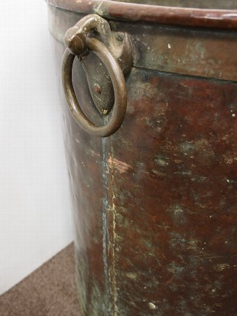 Antique Large and Unusual Copper and Brass Barrel