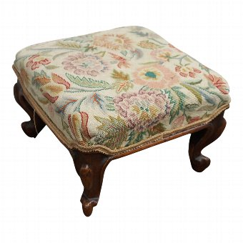 Antique Victorian Rosewood Footstool