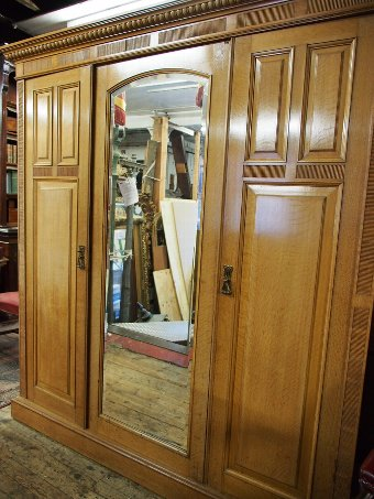 Antique Oak Wardrobe by James Shoolbred and Co