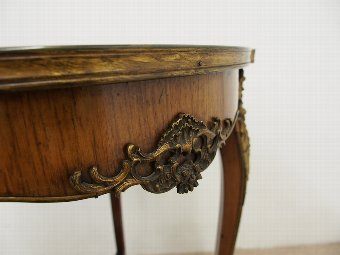 Antique French Kingwood Parquetry and Marquetry Side Table