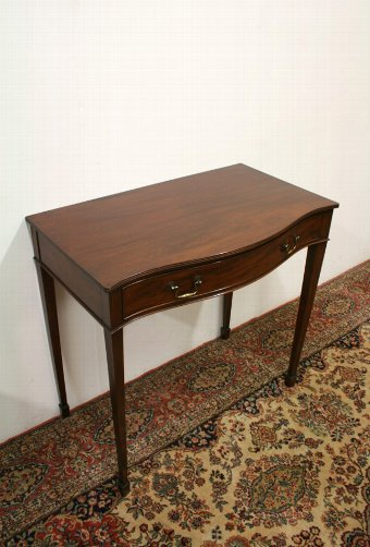 Antique George III Style Serpentine Side Table