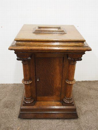 Antique Gothic Revival Oak Church Collection Box