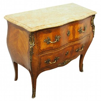Antique French Louis XV Style Kingwood Commode