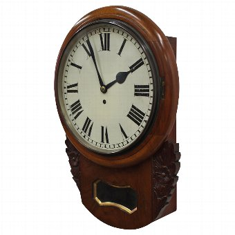 Antique Early Victorian Walnut Wall Clock