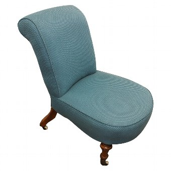 Antique Victorian Nursing Chair by Mackenzie and Crosbie, Edinburgh