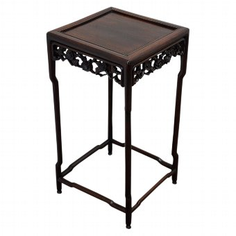 Antique Square Huanghuali Chinese Occasional Table