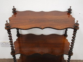 Antique Neat Victorian Rosewood Whatnot