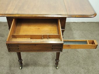 Antique  George IV Mahogany Drop Leaf Writing Table