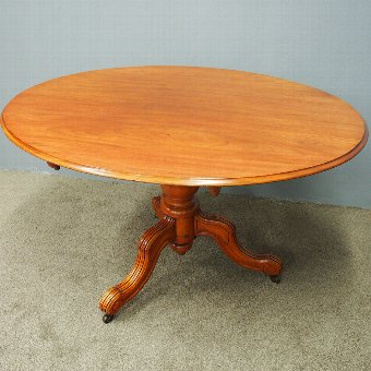 Antique Victorian Oval Mahogany Breakfast Table