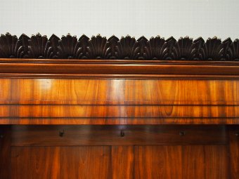 Antique William IV Mahogany Cue Rack or Stand