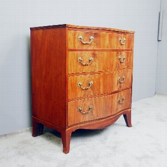Antique Hepplewhite Style Inlaid Mahogany Chest of Drawers