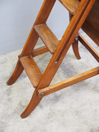 Antique Arts and Crafts Oak Metamorphic Chair or Steps