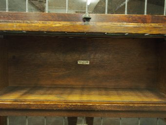 Antique Tall Oak Sectional Bookcase by Globe Wernicke