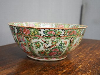 Antique 19th Century Canton Bowl