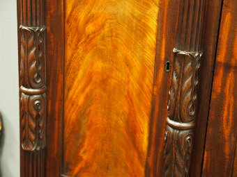 Antique William IV Scottish Mahogany 4 Door Wardrobe