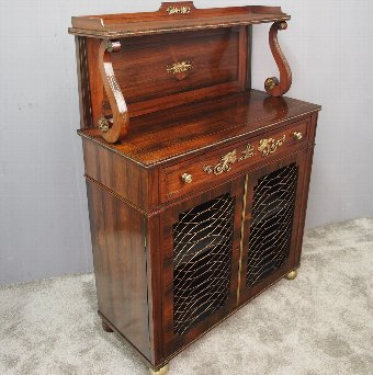 Antique Regency Rosewood Secretaire Chiffonier