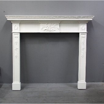 Antique Adams Style Painted Pine Mantelpiece