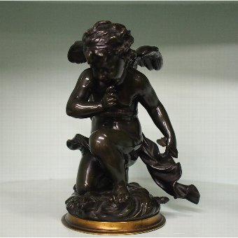 Antique Bronze Figure of Cupid by Emile Joseph Carlier
