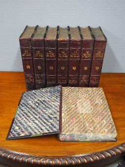 Antique 19th Century Set of Leather Bound Volumes of The Century Dictionary