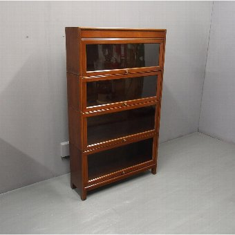 Antique Art Deco 4 Tier Mahogany Sectional Bookcase