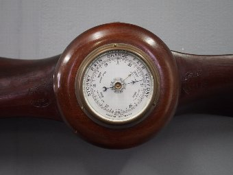 Antique British Barometer Mounted in a Gremont Paris Propeller