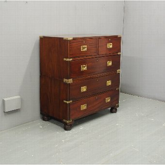 Antique Victorian Mahogany Military Chest