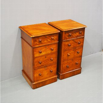 Antique Pair of Victorian Mahogany Bedsides