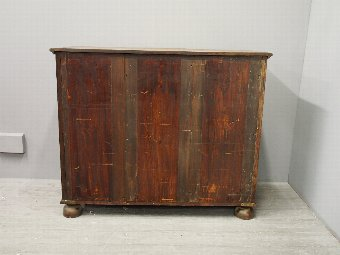 Antique Oak Serpentine Chest of Drawers