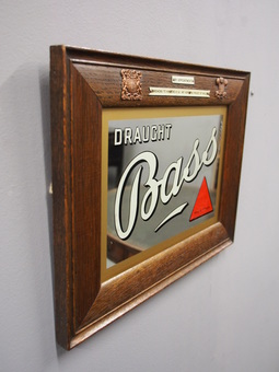 Antique Bass and Co Pub Mirror