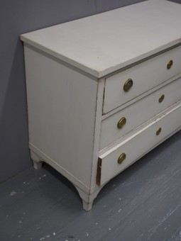 Antique Swedish Empire Style Painted Chest of Drawers