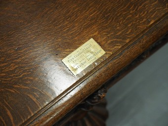 Antique Oak Centre or Dining Table with Historic Edinburgh Woods