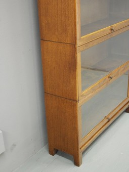 Antique Oak Sectional Bookcase by Gunn