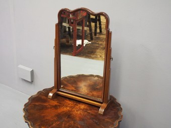 Antique Mahogany Toilet Mirror by Whytock and Reid