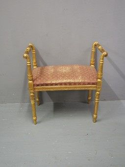 Antique Adams Style Gilt Window Seat