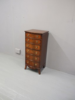 Antique George III Style Tall Mahogany Chest of Drawers