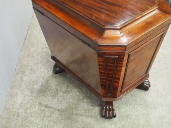 Antique Georgian Mahogany Sarcophagus Wine Cooler
