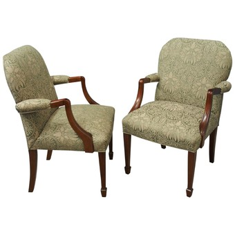 Pair of Gainsborough Style Library Chairs