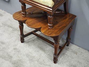 Antique George IV Mahogany Childs Chair on Stand