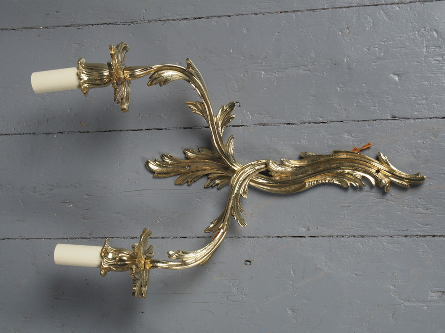 Antique Antique Set of 4 Cast Brass Wall Sconces