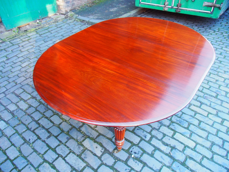 Antique Large George IV Mahogany Dining Table by M. Willson, London
