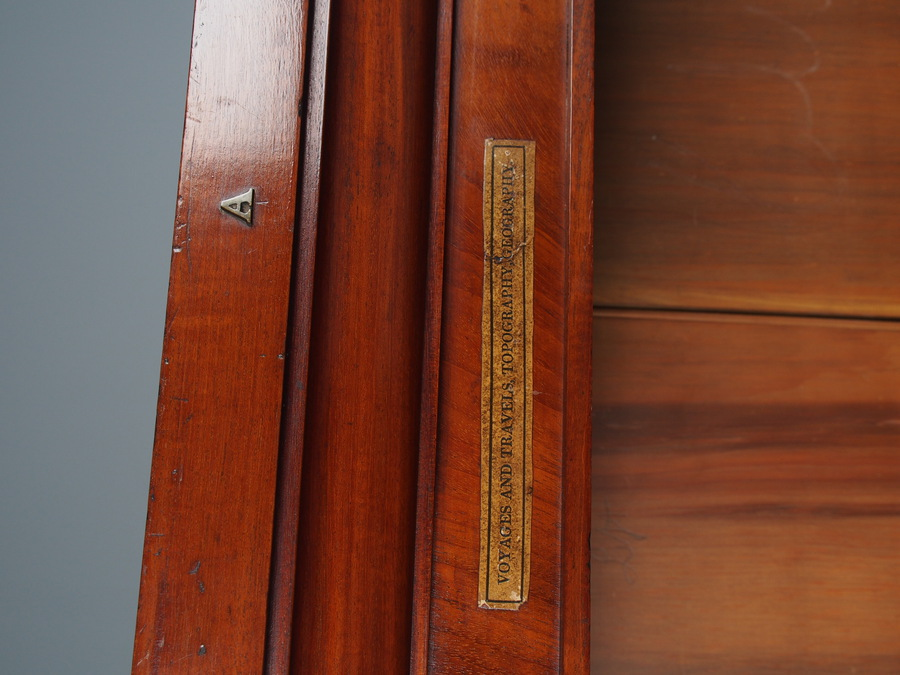 Antique Antique George IV Tall Mahogany Open Bookcase