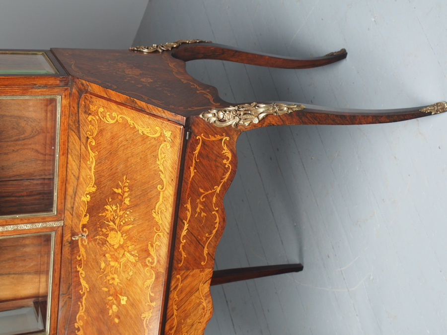 Antique  Antique French Inlaid Rosewood Bonheur du Jour