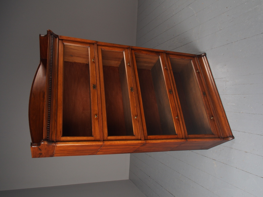 Antique Antique Mahogany Sectional Bookcase by Lebus