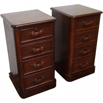 Antique Pair of Victorian Mahogany Chests/Lockers