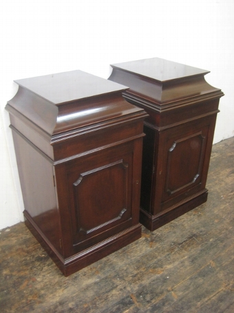 Antique Pair of George III Style Bedside Cabinets